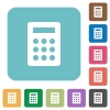 Flat calculator icons - Flat calculator icons on rounded square color backgrounds.