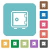 Flat strong box icons - Flat strong box icons on rounded square color backgrounds.