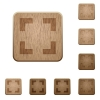 Selector tool wooden buttons - Set of carved wooden selector tool buttons in 8 variations.
