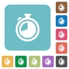 Flat timer icons - Flat timer icons on rounded square color backgrounds.