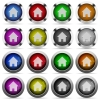 Home glossy button set - Set of home glossy web buttons. Arranged layer structure.
