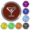 Color cocktail buttons - Set of color glossy coin-like cocktail buttons.