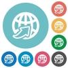 Flat worldwide icons - Flat worldwide icon set on round color background.