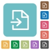 Flat import icons - Flat import icons on rounded square color backgrounds.