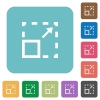 Flat maximize element icons - Flat maximize element icons on rounded square color backgrounds.