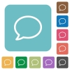 Flat comment icons - Flat comment icons on rounded square color backgrounds.