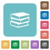 Flat books icons - Flat books icons on rounded square color backgrounds.