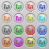 Bug folder plastic sunk buttons - Set of bug folder plastic sunk spherical buttons.