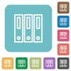 Flat binders icons - Flat binders icons on rounded square color backgrounds.