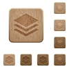 Layers wooden buttons - Set of carved wooden layers buttons in 8 variations.
