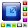Color resize window square buttons - Set of resize window color glass rounded square buttons