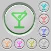 Cocktail push buttons - Set of color cocktail sunk push buttons.