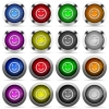 Winking emoticon glossy button set - Set of Winking emoticon glossy web buttons. Arranged layer structure.