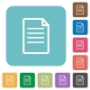 Flat document icons - Flat document icons on rounded square color backgrounds.
