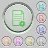 Document setup push buttons - Set of color Document setup sunk push buttons.