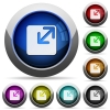 Resize window button set - Set of round glossy Resize window buttons. Arranged layer structure.