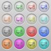 Desktop computer plastic sunk buttons - Set of Desktop computer plastic sunk spherical buttons.