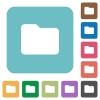 Flat folder icons - Flat folder icons on rounded square color backgrounds.