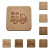 Transport wooden buttons - Set of carved wooden Transport buttons in 8 variations.