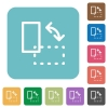 Flat rotate element icons - Flat rotate element icons on rounded square color backgrounds.
