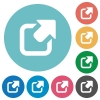 Flat export icons - Flat export icon set on round color background.