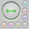 Resize horizontal push buttons - Set of color Resize horizontal sunk push buttons.