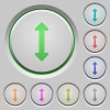 Resize vertical push buttons - Set of color Resize vertical sunk push buttons.