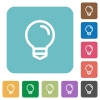 Flat light bulb icons - Flat light bulb icons on rounded square color backgrounds.