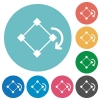 Flat rotate element icons - Flat rotate element icon set on round color background.