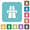 Flat highway icons - Flat highway icons on rounded square color backgrounds.