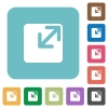 Flat resize window icons on rounded square color backgrounds. - Flat resize window icons