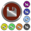Color save buttons - Set of color glossy coin-like save buttons.