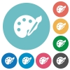 Flat paint icons - Flat paint icon set on round color background.
