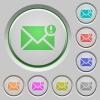 Important message push buttons - Set of color Important message sunk push buttons.