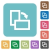 Flat rotate element right icons - Flat rotate element right icons on rounded square color backgrounds.
