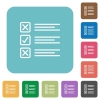 Flat questionnaire icons - Flat questionnaire icons on rounded square color backgrounds.