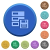 Embossed backup buttons - Set of round color embossed backup buttons