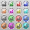 Puzzle plastic sunk buttons - Set of puzzle plastic sunk spherical buttons.