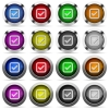 Checkbox glossy button set - Set of checkbox glossy web buttons. Arranged layer structure.
