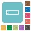 Flat editbox icons - Flat editbox icons on rounded square color backgrounds.