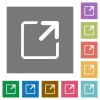 Maximize window square flat icons - Maximize window flat icon set on color square background.