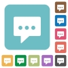 Flat working chat icons - Flat working chat icons on rounded square color backgrounds.
