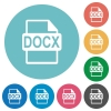 Flat DOCX file format icons - Flat DOCX file format icon set on round color background.