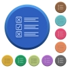Embossed questionnaire buttons - Set of round color embossed questionnaire buttons