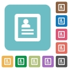 Flat user profile icons - Flat user profile icons on rounded square color backgrounds.