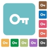 Flat old key icons - Flat old key icons on rounded square color backgrounds.