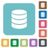 Flat database icons - Flat database icons on rounded square color backgrounds.