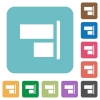 Flat align to right icons - Flat align to right icons on rounded square color backgrounds.