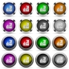 Puzzle glossy button set - Set of puzzle glossy web buttons. Arranged layer structure.