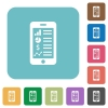 Flat mobile application icons - Flat mobile application icons on rounded square color backgrounds.